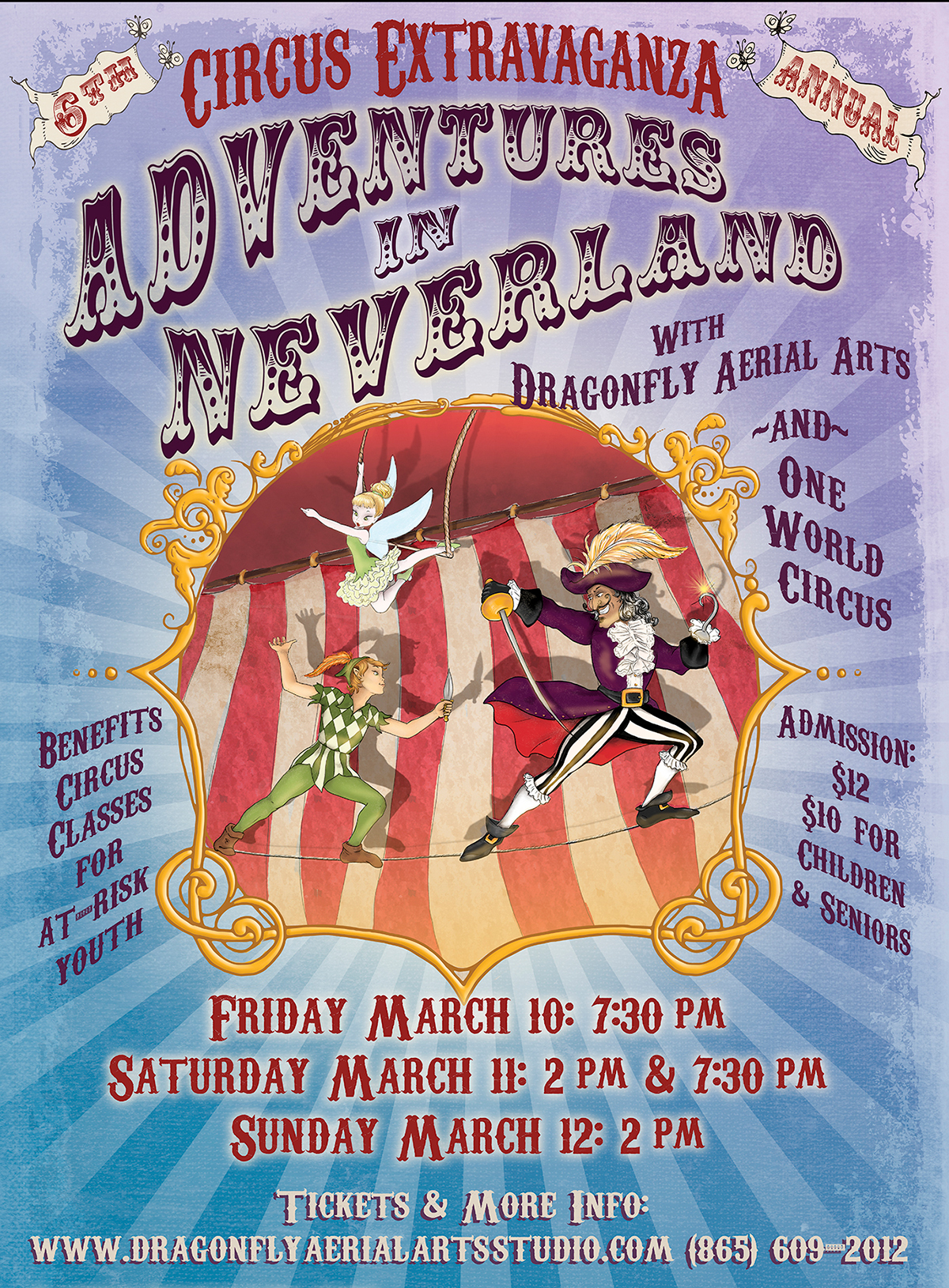 Adventures In Neverland Circus Show Poster Art By Michele