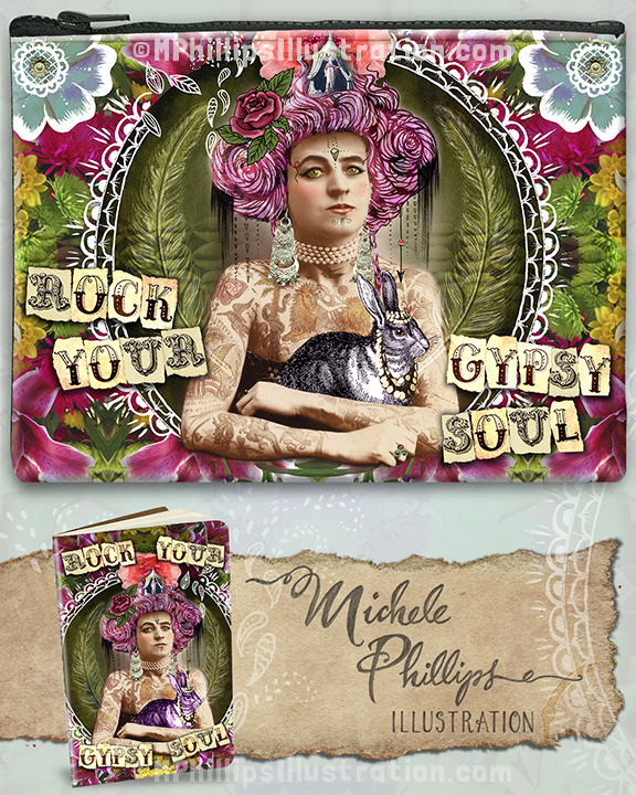 M Phillips Illustration Rock Your Gypsy Soul