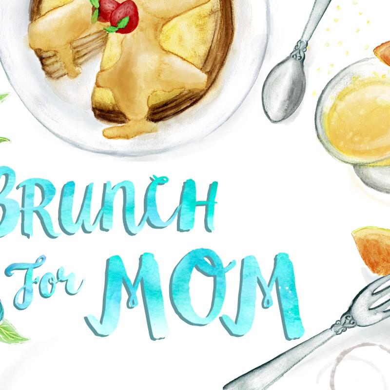 Brunch Icons Watercolor