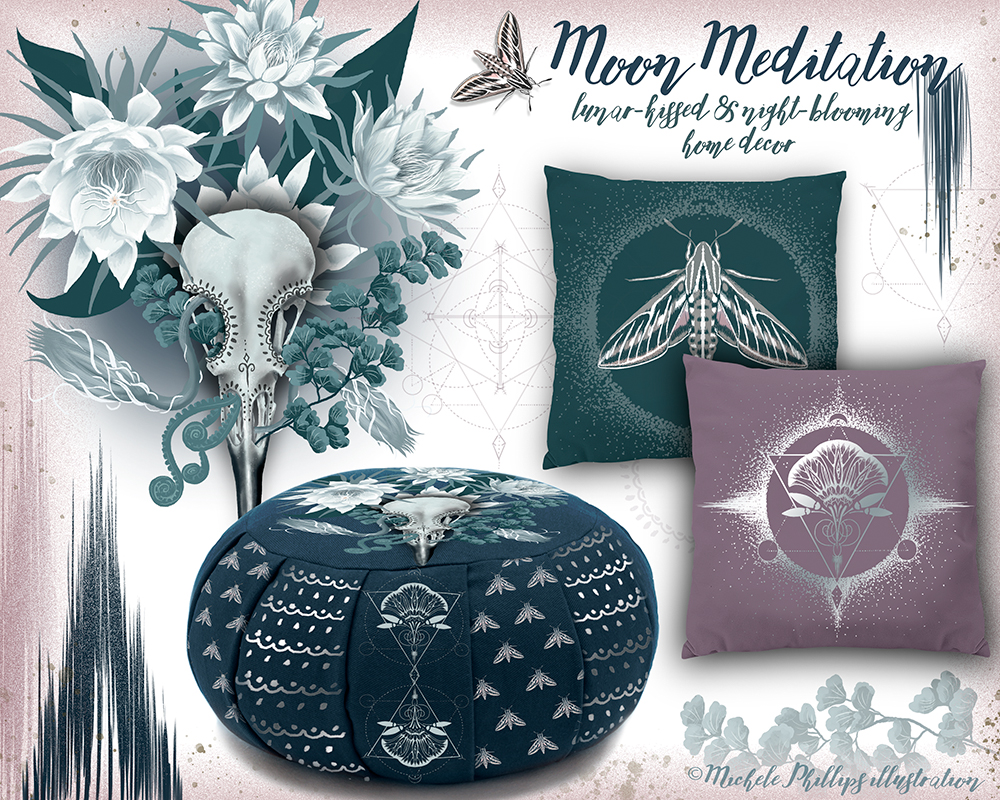 Moon Meditation Night Bloomer Home Decor Items