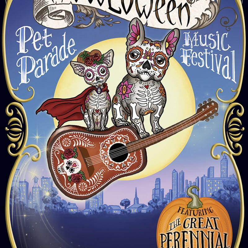Poster art for Atlanta's O4W Howloween Festival
