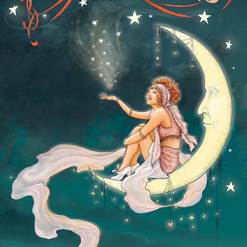 Gypsy Moon Illustration by Michele Phillips