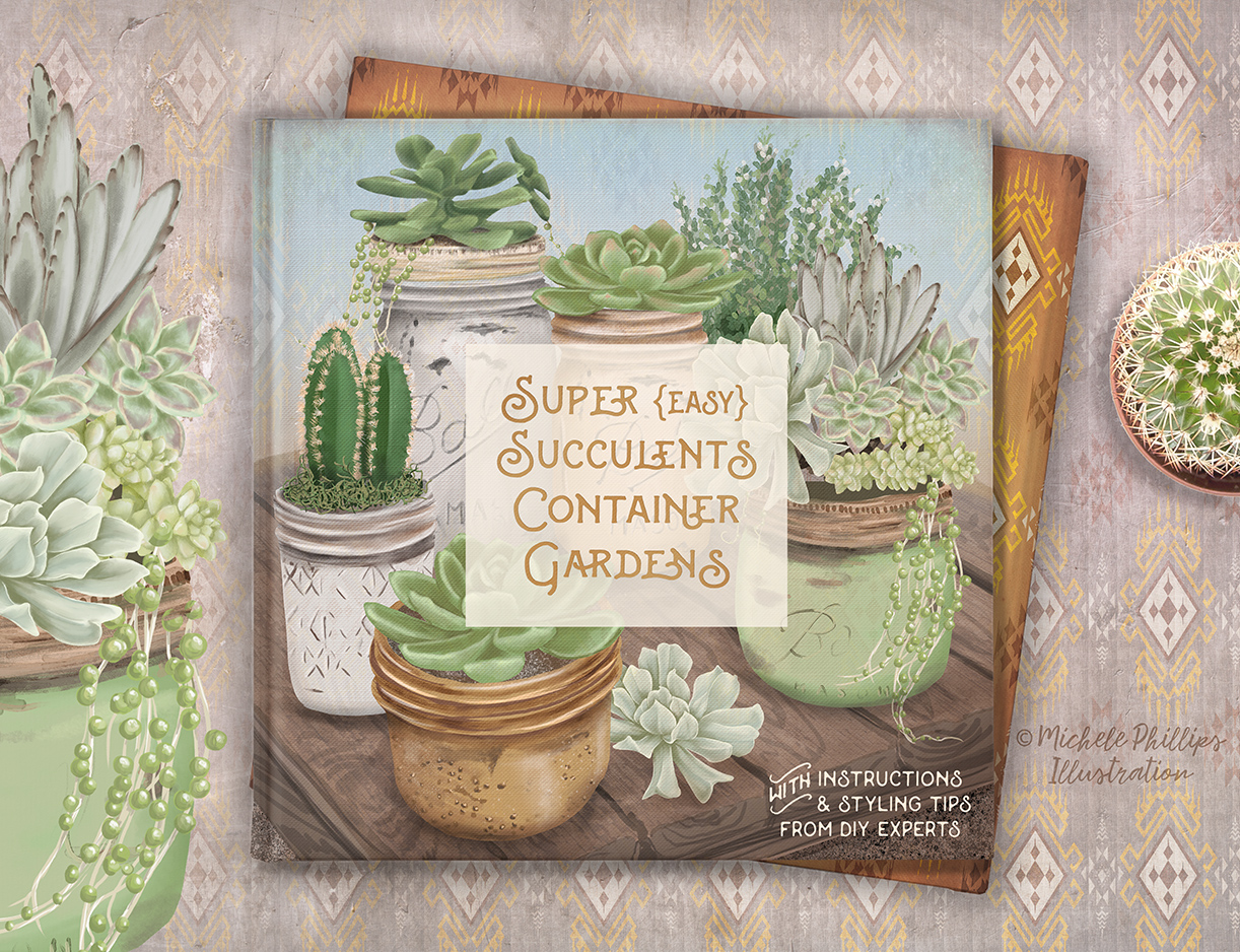 Succulent Container Gardening illustration