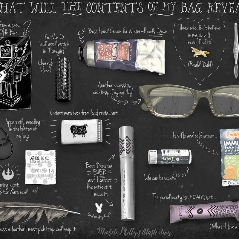 Whats In My Bag Illustration