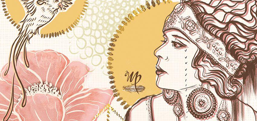 Poppy Starlets detail M Phillips Illustration