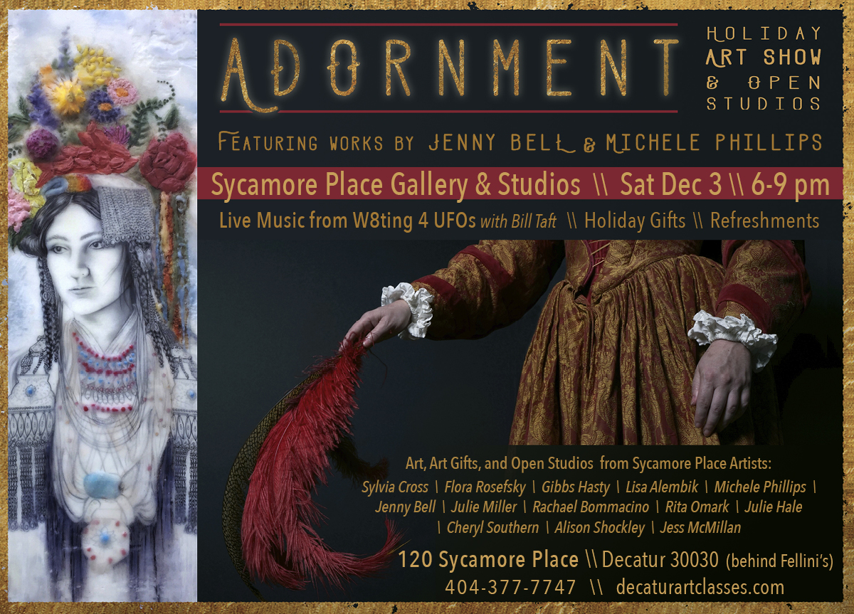 Adornment: Art Show and open studios at Sycamore Place Gallery