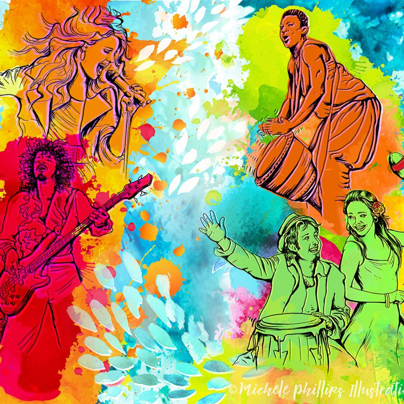 Music Festival by Michele Phillips Illustration