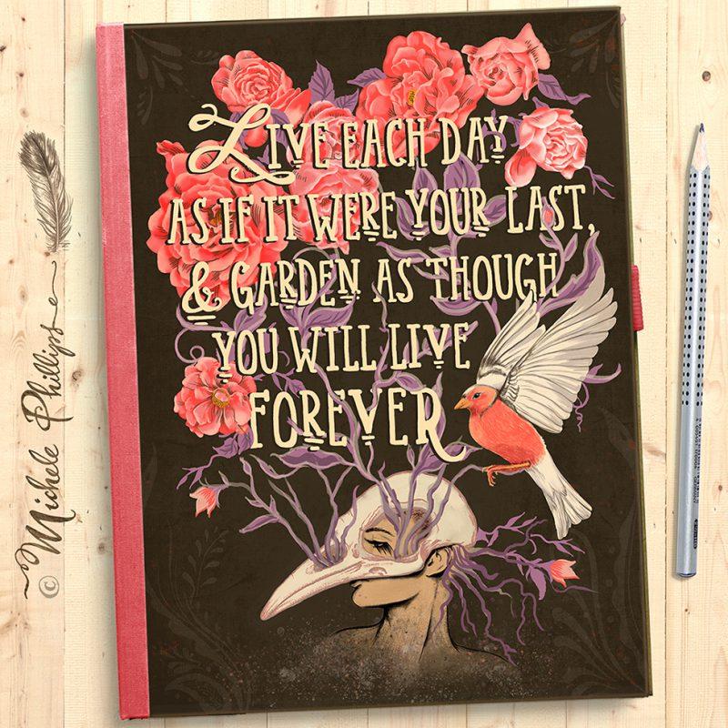 Garden Journal Illustration by Michele Phillips